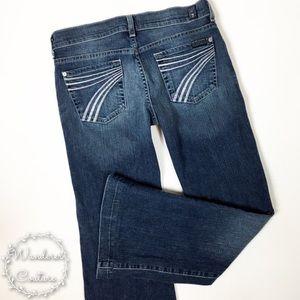 7 FAM DOJO Wide Leg Pastel 7 Pockets 25x28